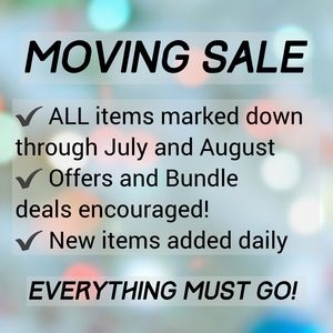🌸 Moving Sale! 🌸